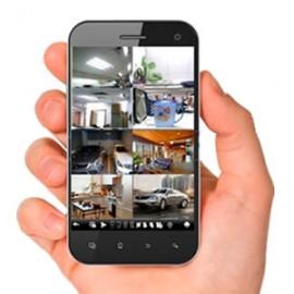 Visionado de las cámaras en equipo informático o smartphone.