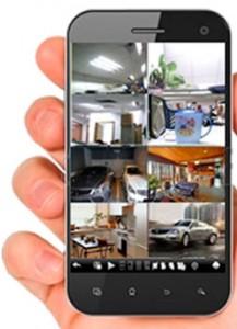 Visionado de las cámaras en smartphone.